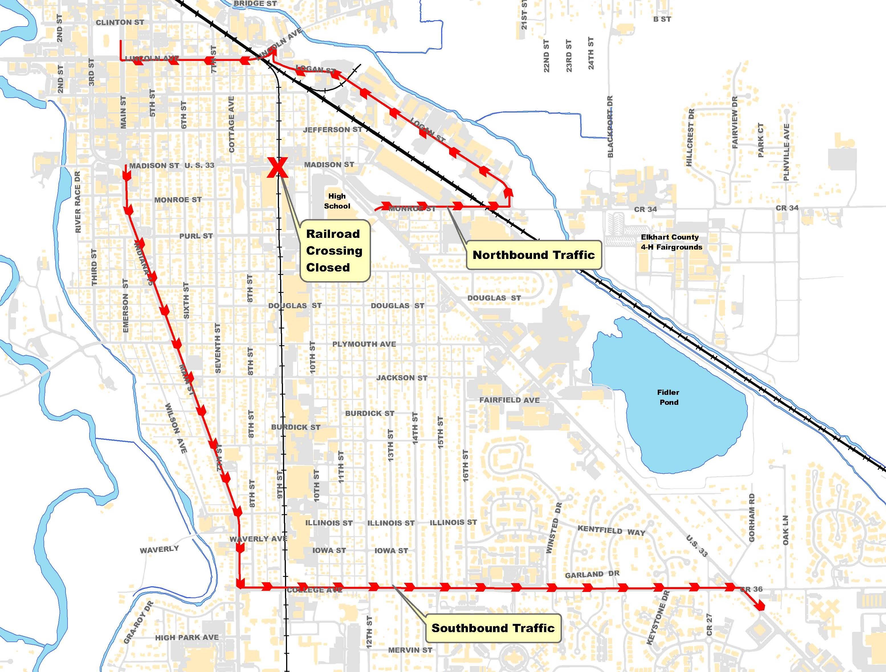 US MADISON STREET RAILROAD CROSSING CLOSURE News - Us railroad map 2016